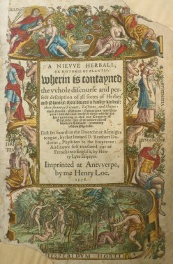 Title page. From A nievve Herball or Historie of Plantes . . . Classmark: CCA.47.196
