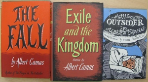 Some of the UL's earliest received Camus books.