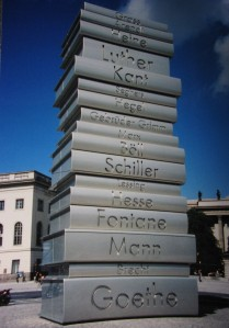 A memorial to the Nazi book burning, Berlin 2006