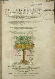 Title page. From De historia stirpium commentarii insignes. Classmark: Sel.2.81
