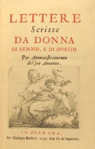 """Lettere scritte da donna"", a book for women published in 1737. CCD.17.15"
