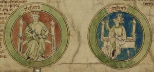Chronicle roll in Anglo-Norman and English (CUL MS Oo.7.32)