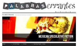 "A screenshot of the collaborative online translation project ""Palabras errantes"" presented at the seminar."