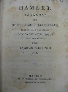 7720.c.29 - Hamlet : Tragedia de Guillermo Shakespeare