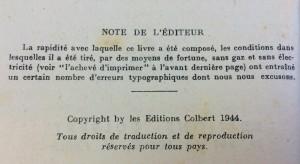 Note de l'éditeur--title page verso