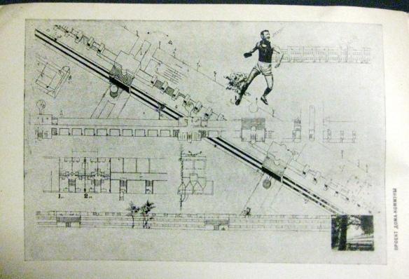 Montage plan for Kominternovsk (Sovremennaia arkhitekura, 3/1930; CCA.54.1045)