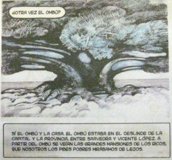 A panel from La raíz del ombú