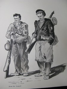 Two members of the Resistance, from Liberation collection book Ceux du maquis (In process.19)