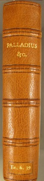 Spine of the new binding
