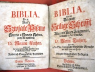 Title page of the 1728 Upper Sorbian bible (BSS.234.D28)