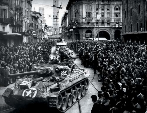 21 April 1945, Liberation of Bologna – American tank taken from Wikimedia commons