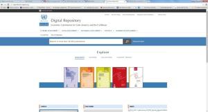 ECLAC Digital Repository homepage