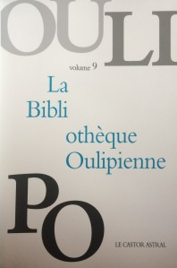 Bibliothèque Oulipienne, vol. 9 (735:01.c.13.9) - NW3