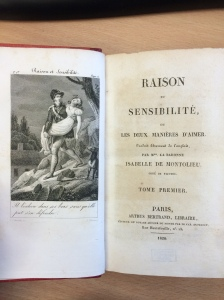 Title page and frontispiece, Raison et sensibilité