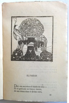 El faisan, Prosas profanas (S743:3.d.9.88)
