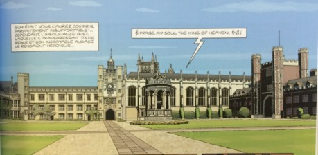 The UL doesn't feature in the story, but Trinity College does.