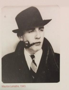 Maurice Lemaître (1943)-- image from page 7 of Lemaître : une vie lettriste / par Frédéric Acquaviva (classmark: 2014.10.1191)