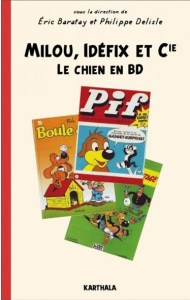The cover of Milou, Idéfix et Cie (image from the publisher)