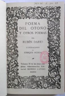 Title page: Poema del otoño y otros poemas (743:36.d.90.55)