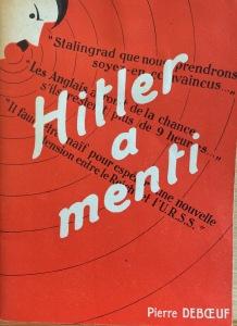 Hitler a menti - Cover