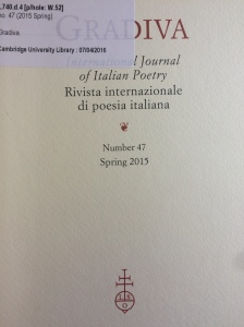 A recent issue of Gradiva