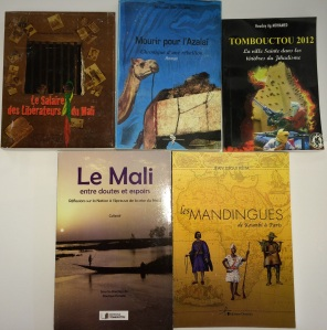 A selection of books acquired from Mali