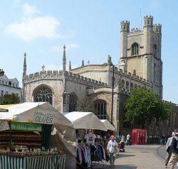 Great St Mary's church, photo by Robin Drayton via Wikimedia Commons