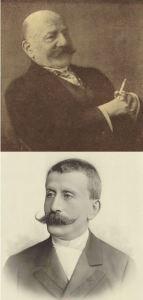 Alexander Moszkowski above, Moritz Moszkowski below, via Wikimedia Commons
