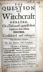 Title page of Wagstaffe's Question of witchcraft debated (N.6.14)