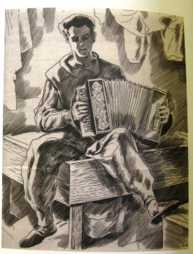 Soulas - accordian player at Theresienstadt