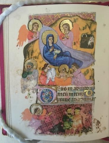 Nativity scene from Officiolum di Francesco da Barberino (Tab.b.932-933)