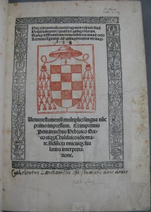 Title page of volume 1 (Sel.2.69)