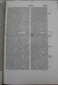 Page of Mark's Gospel in volume 5. Click on image to see enlarged.