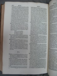 Sample page including the words bibliotheca (library) and bibliothecario (librarian), both written without h in modern Spanish, v. 2. (Hisp.3.72.2)