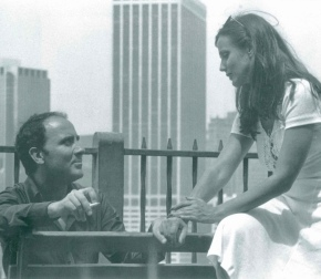 Puig with Marcela López Rey, New York, 1975