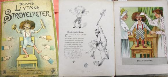 Cover and first page spread of Dean's living Strewelpeter (Waddleton.a.1.264)