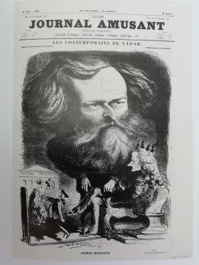 Arsène Houssaye by Nadar (Journal Amusant, 1862)
