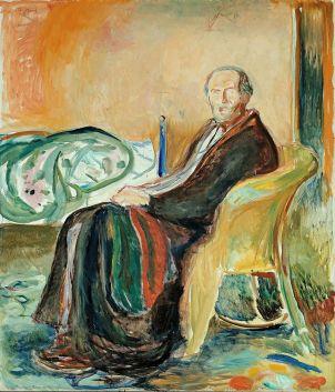 Self-portrait with Spanish flu by Munch, via Wikimedia Commons