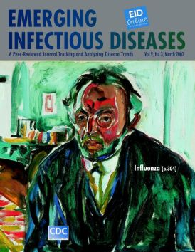 Self-portrait after the Spanish flu by Munch, on cover of journal issue available online